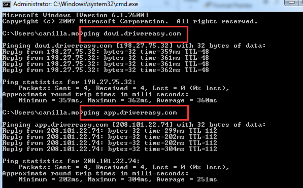 How to use ping command to check internet connection