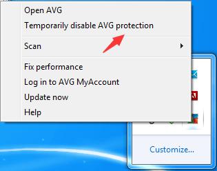 How to disable avg antivirus