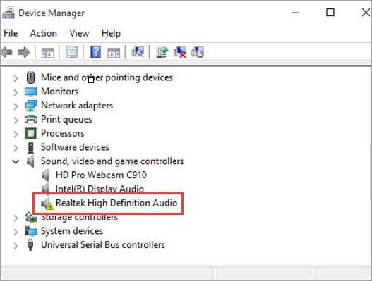 Fix Windows 10 Realtek High Definition Audio Driver Issue Driver Easy