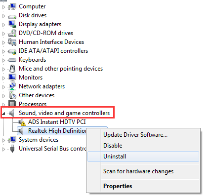 """Solved] issue: """"Failed to create Conexant Audio Factory, The"""