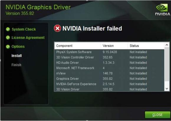 Fix nvidia installer failed issue
