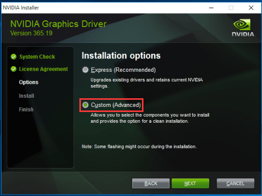 NVIDIA Installer failed Error [SOLVED]