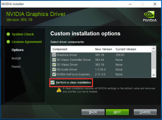 install the driver again 2