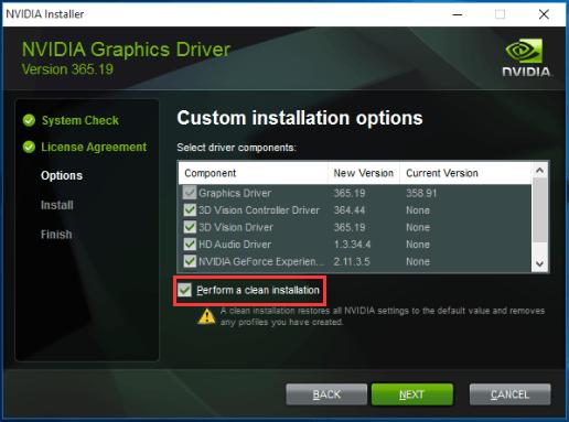 NVIDIA Installer failed Error [SOLVED]