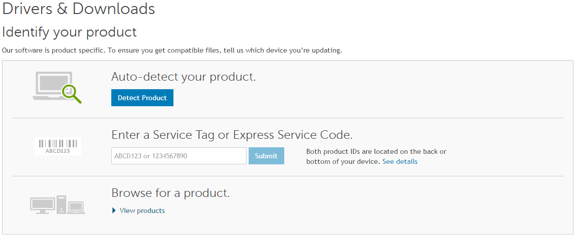 dell update application driver details