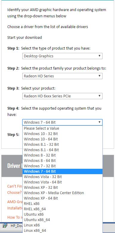 AMD Radeon HD Graphics Drivers Download for Windows 7