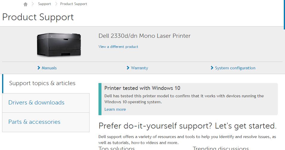 Dell 2330d and 2330dn Mono Laser Printer Driver Update
