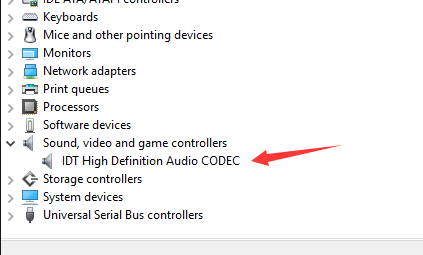 pilote idt high definition audio codec windows 10