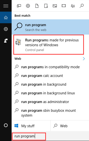 how to find a program in windows 10