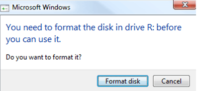 894c0b35 Solved] You need to format the disk in drive before you can use it ...