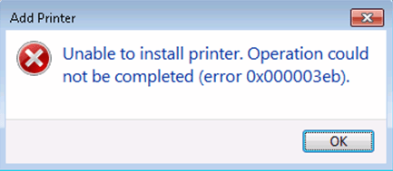 Solved] Unable to install Printer Operation could not be completed