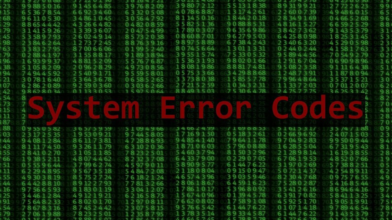 system error code 0x80070057