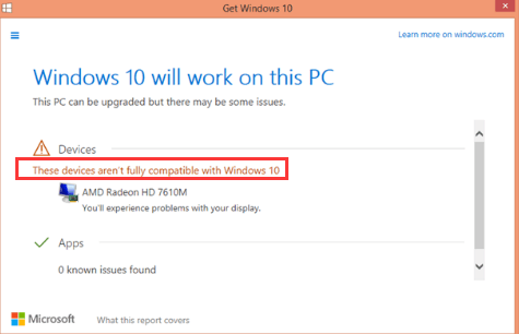 windows 10 upgrade driver compatibility