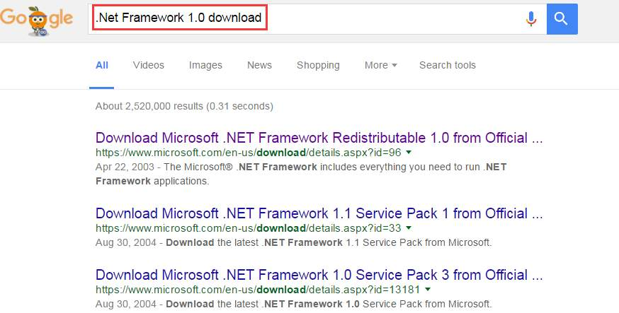 .Net Framework 1.0 download