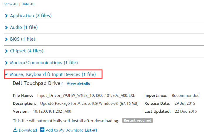 Fix Dell Touchpad Not Working Issue for Windows 10 - Driver Easy