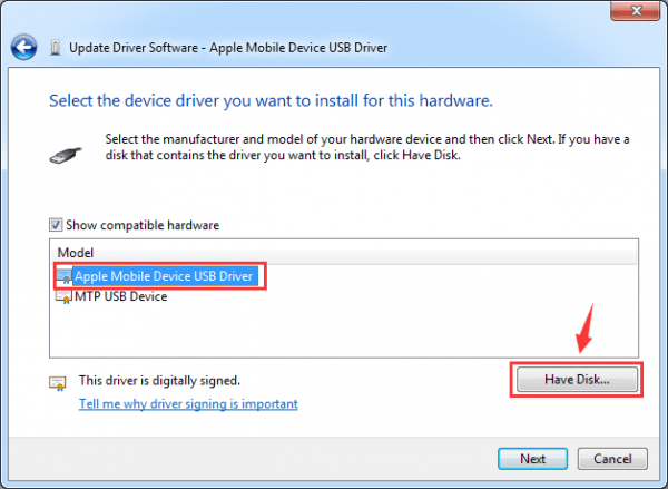 apple mobile device recovery mode драйвер windows 7