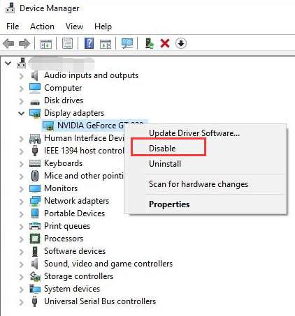 disable nvidia graphics driver