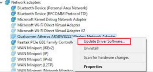 qualcomm atheros ar5005g wireless network adapter