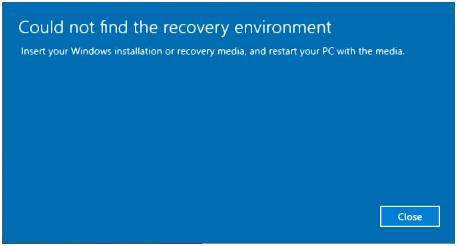 windows recovery media