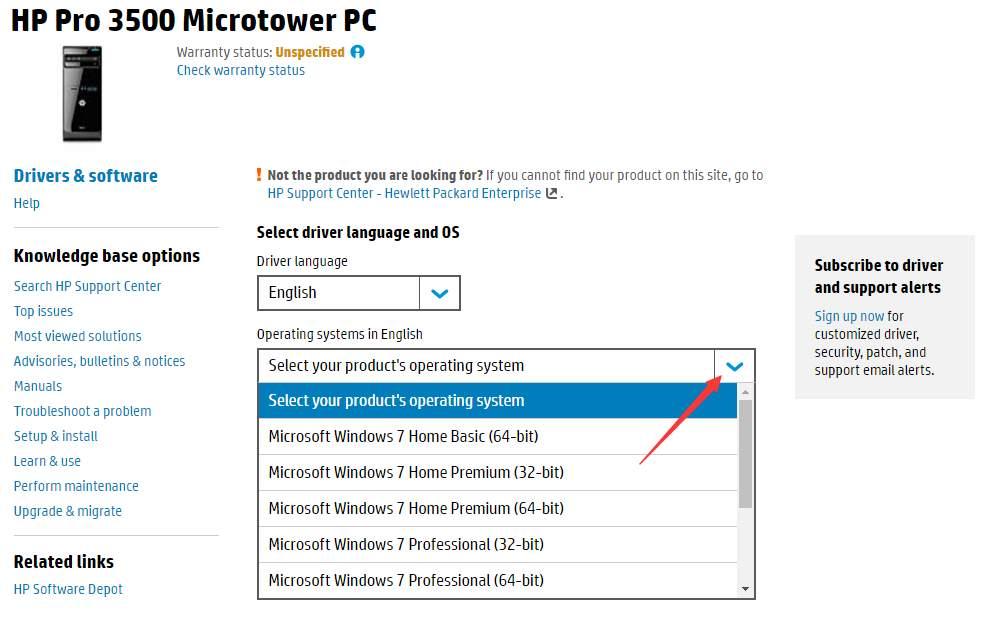 hp pro 3500 drivers windows 7 32 bit