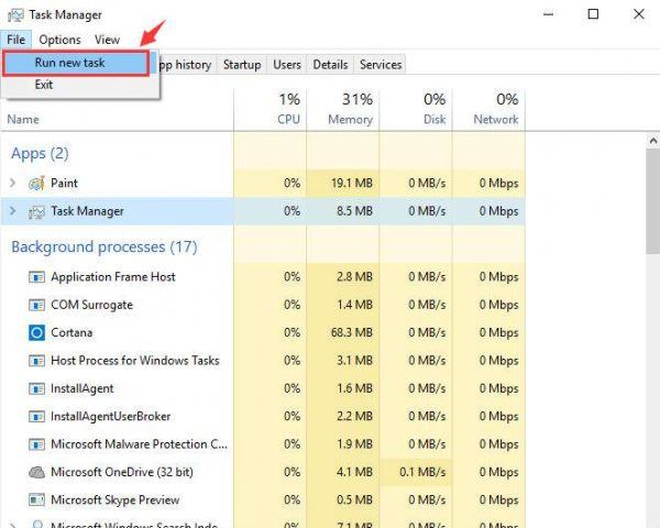 task manager wont launch windows 10