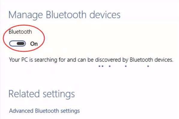 Bluetooth cant turn off on windows 10 solved driver easy they cannot see the toggle switch circled out in the screenshot in bluetooth device setting ccuart Gallery