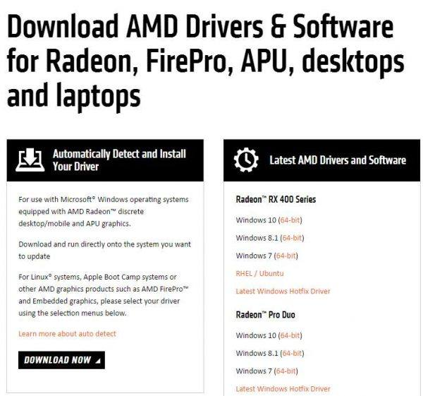 AMD: Failed to load detection driver on Windowas 10 [SOLVED
