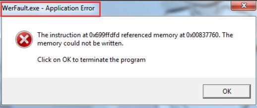 winword exe application error