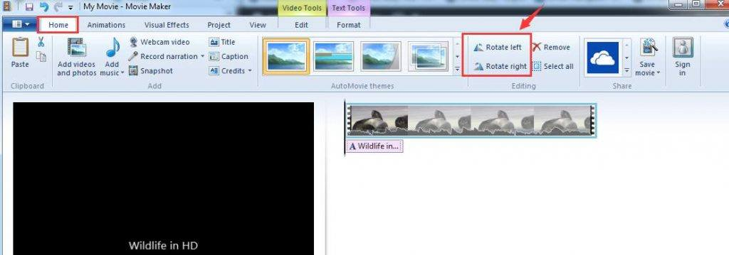 How to rotate a video on windows easily super easy 7 when you finish editing your video clip click the file menu and select save movie to make things easier we just choose recommended for this project ccuart Images