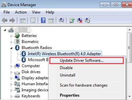 intel bluetooth software