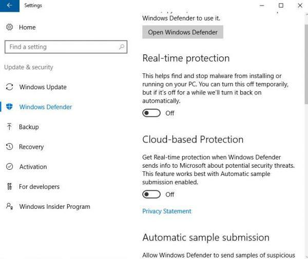 how to turn on windows defender windows 7