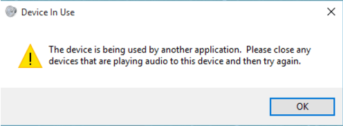 Fix The device is being used by another application HDMI
