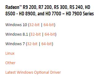 amd radeon hd 7700 driver windows 10 64 bit
