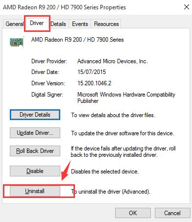 AMD Radeon R7 250 Graphics Driver Problems on Windows 10
