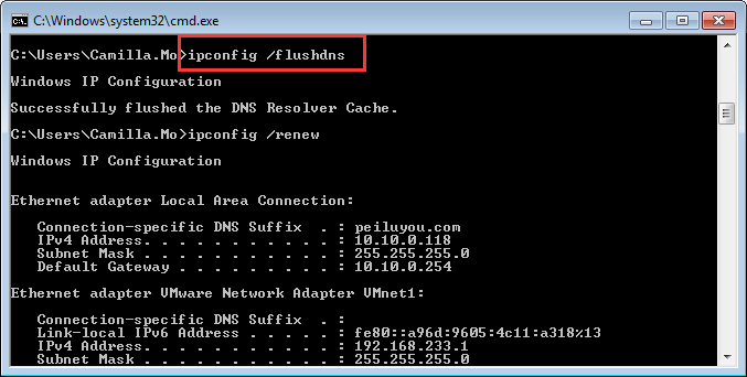 how to fix bad dns config
