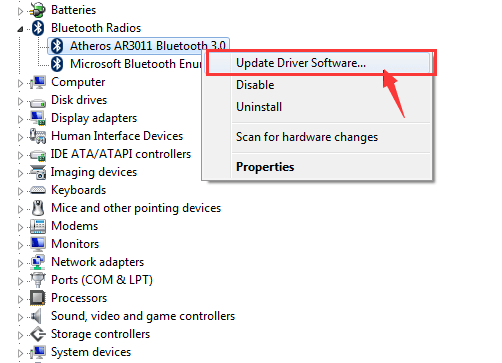 Qualcomm Atheros Bluetooth Driver Not Working on Windows 10