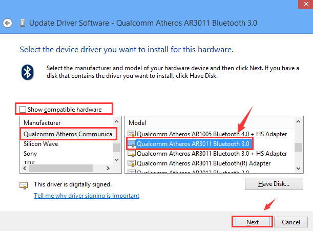 qualcomm bluetooth driver