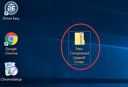the compressed (zipped) folder is empty windows 10