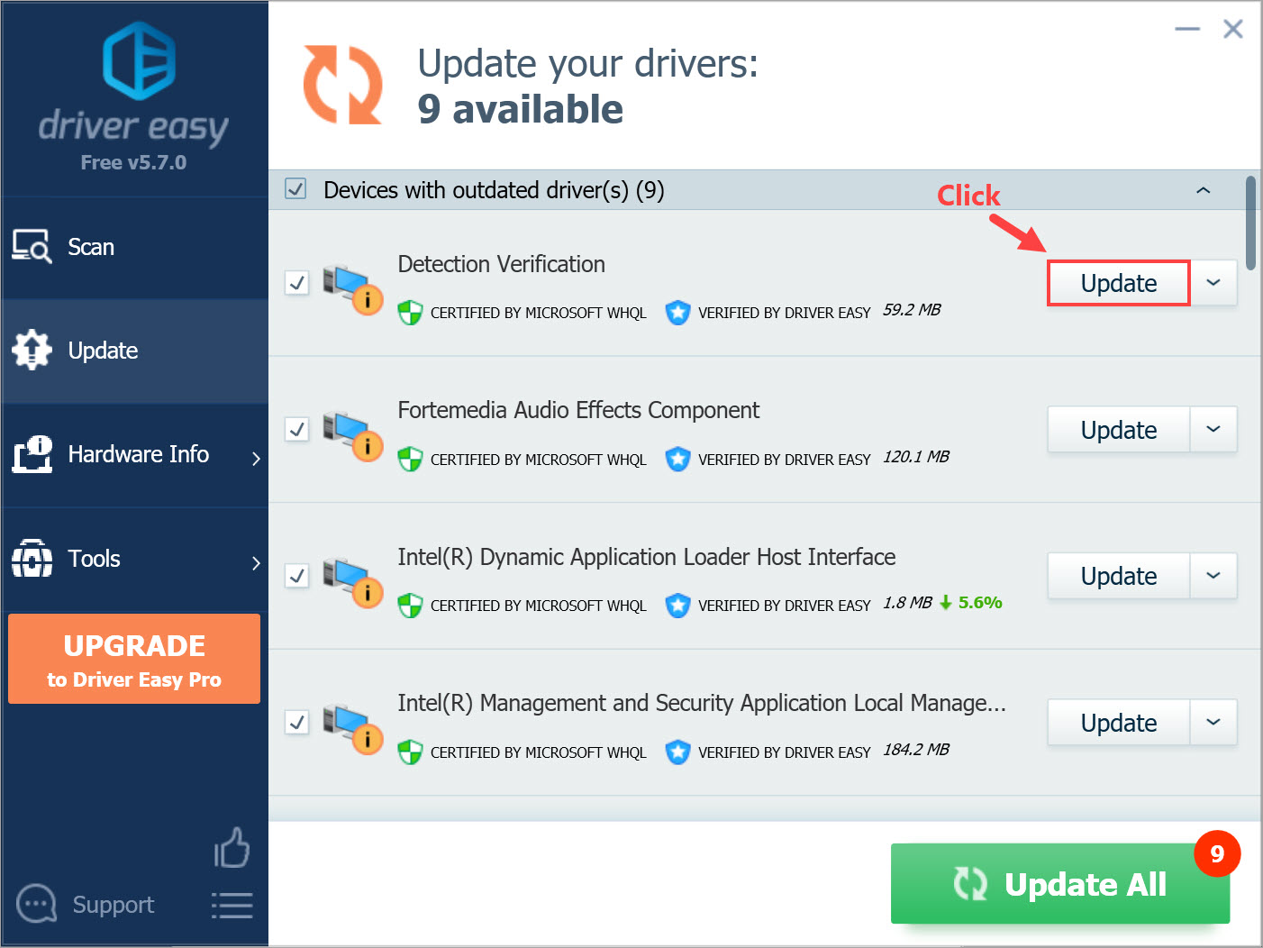 Driver Easy Free Update Drivers