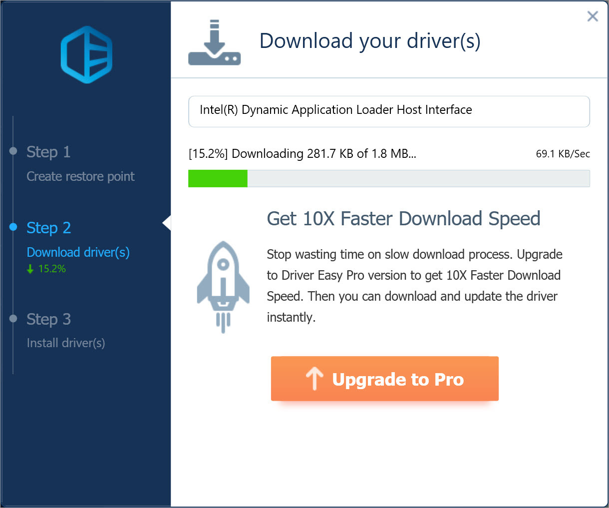 Driver Easy Free download driver update