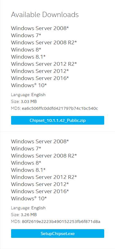 Update Intel Chipset Drivers for Windows 10, 7 & 8 1