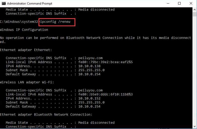 windows wifi ip configuration