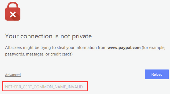 Fix Chrome ERR_CERT_COMMON_NAME_INVALID Error