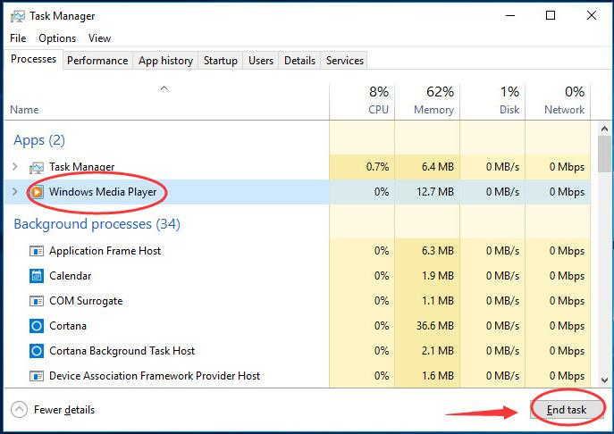 Windows Media Player Server Execution Failed Error On Windows