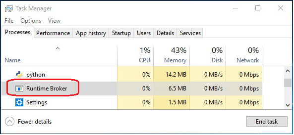 What is Runtime Broker and Fix Its High CPU Error on Windows 10