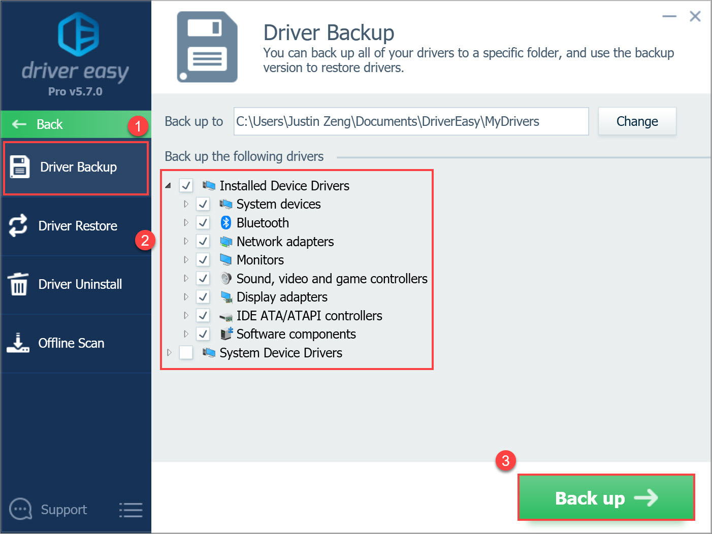 Driver Easy Pro Driver Backup