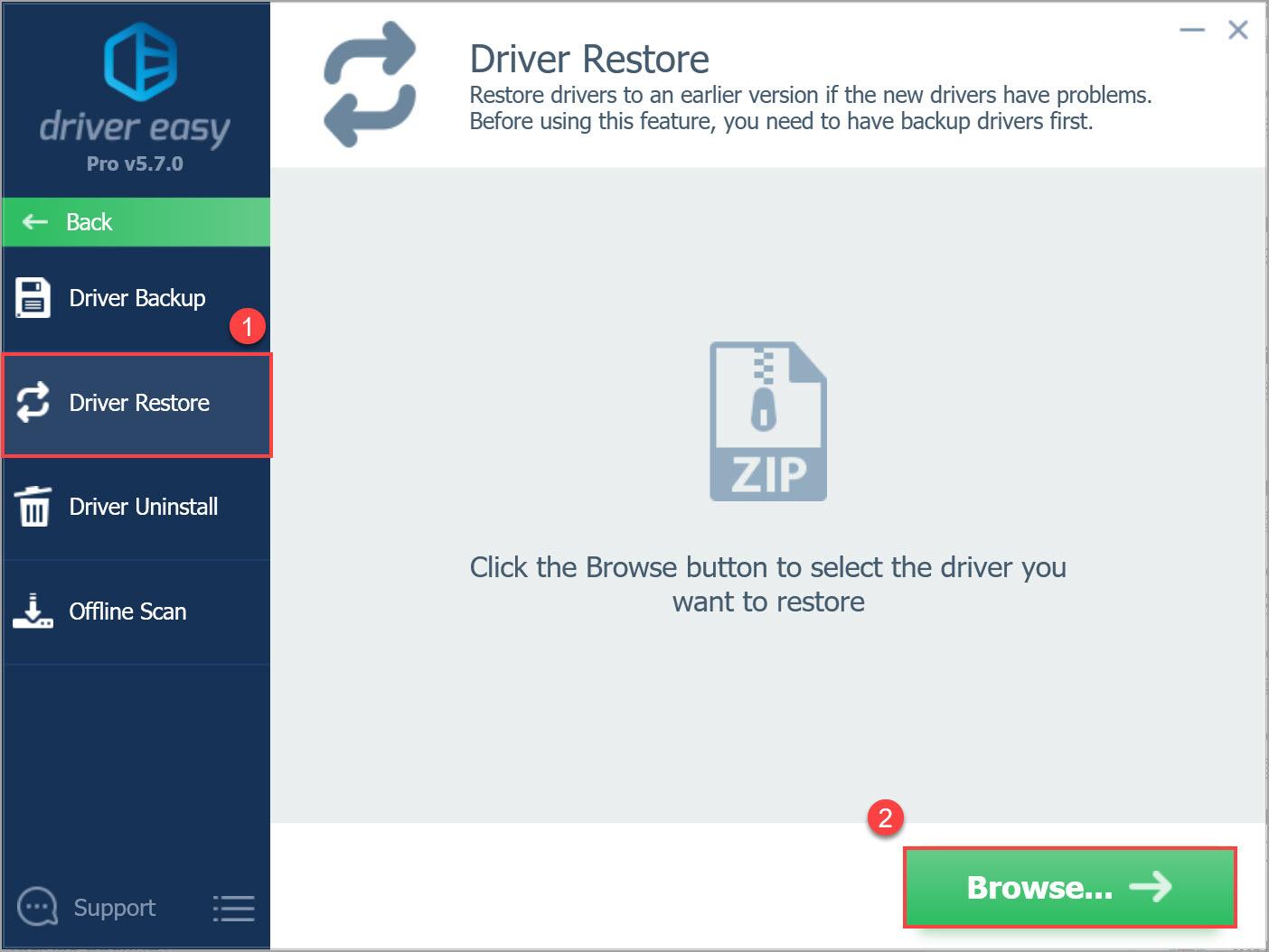 Driver Easy Pro Driver Restore