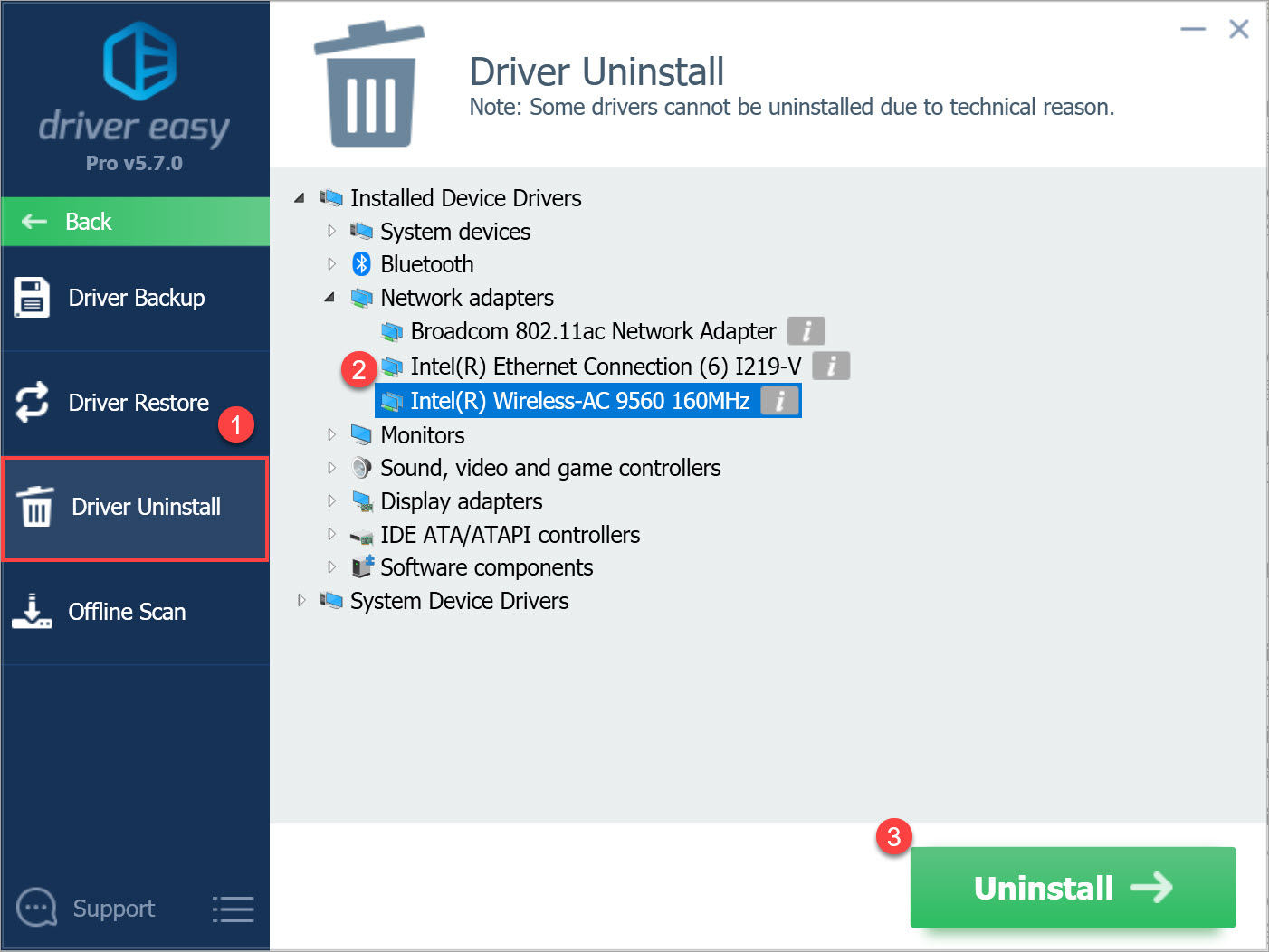 Driver Easy Pro Driver Uninstall
