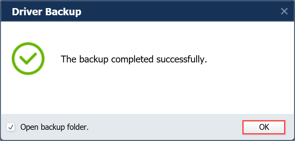 Driver Easy Pro backup completed