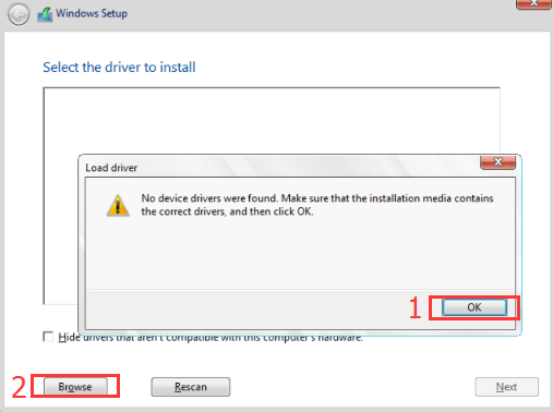 usb windows 7 install drivers not found